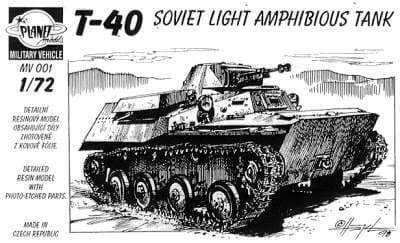 Planet 1/72 T-40 Soviet Light Amphibious Tank # MV001