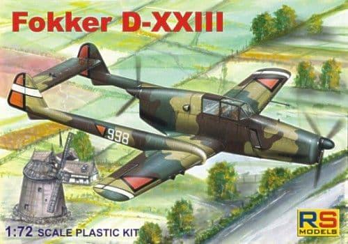 RS Models 1/72 Fokker D-XXIII # 92053