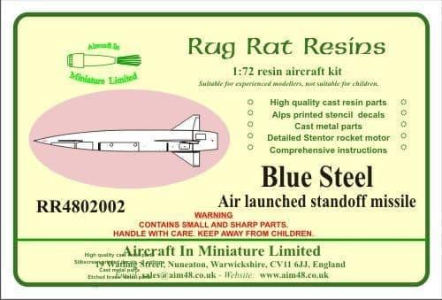 Rug Rat Resins 1/48 Blue Steel Missile # RR4802002
