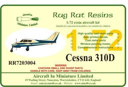 Rug Rat Resins 1/72 Cessna 310D # RR7203004