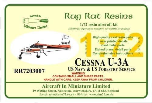 Rug Rat Resins 1/72 Cessna U-3A-U.S. Navy & US Forestry # RR7203007