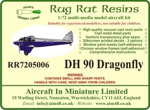 Rug Rat Resins 1/72 De Havilland DH-90 Dragonfly # RR7205006