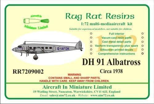 Rug Rat Resins 1/72 De Havilland DH.91 Albatross # RR7209002