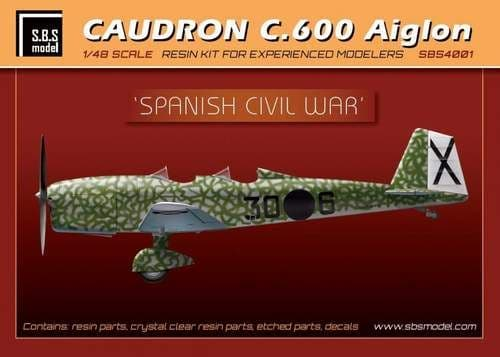 SBS Model 1/48 Caudron C.600 'Spanish Civil War' with Etched Parts & Decal # 4001