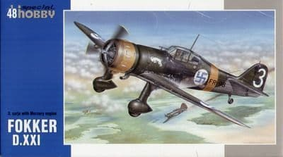 Special Hobby 1/48 Fokker D.XXI with Mercury engine # 48078
