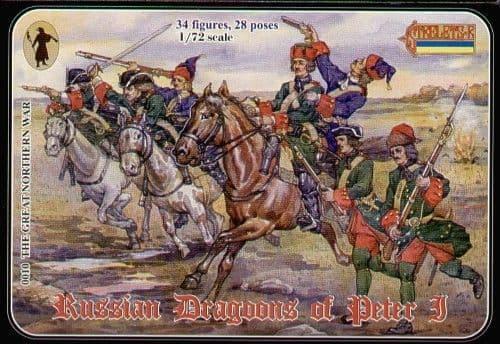 Strelets 1/72 Russian Dragoons of Peter I # 010