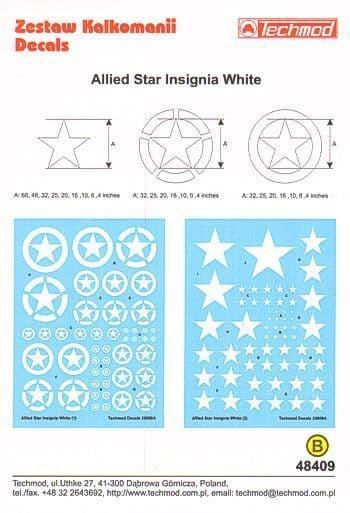 Techmod 1/48 Allied Star Insignia White # 48409