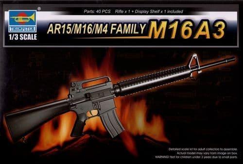 Trumpeter 1/3 AR15/M16/M4 Series - M16A3 # 01911