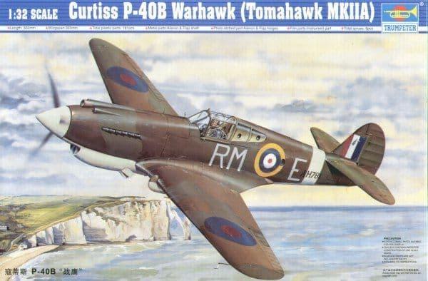 Trumpeter 1/32 Curtiss P-40B Tomahawk Warhawk (Tomahawk MKIIA) #