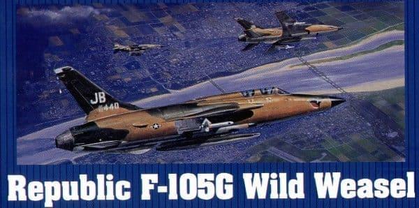 Trumpeter 1/32 Republic F-105G Thunderchief Wild Weasel # 02202