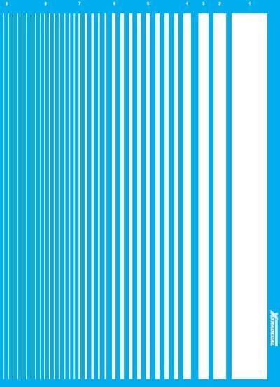 Xtradecal - Parallel Stripes White # PS2