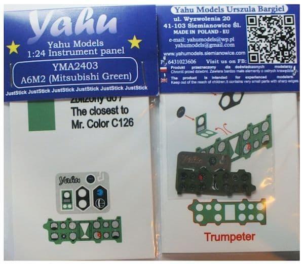 Yahu Models 1/24 Mitsubishi A6M2 'Zero' (Mitsubishi Green) # YMA2403