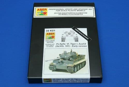 Aber 1/35 Pz.Kpfw.VI Tiger I Ausf.E (Sd.Kfz.181) Early Version Upgrade Set # 35K01