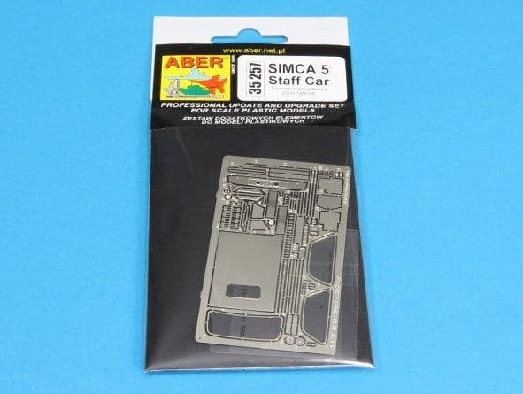 Aber 1/35 Simca 5 Staff Car Detailing Set # 35257