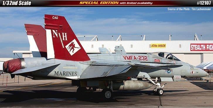Academy 1/32 McDonnell-Douglas F/A-18A+ Hornet VMFA-232 Special Edition # 12107