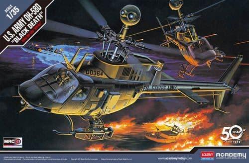 "Academy 1/35 Bell OH-58D U.S. Army ""Black Death"" # 12131"