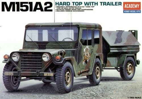 Academy 1/35 M151A2 Hard Top with Trailer # 13012