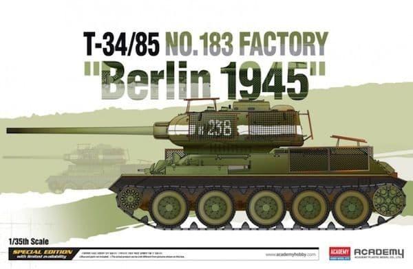 "Academy 1/35 T-34/85 No.183 Factory ""Berlin 1945"" # 13295"