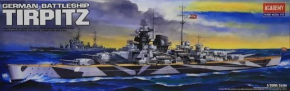 Academy 1/350 Tirpitz German Battleship # 14111