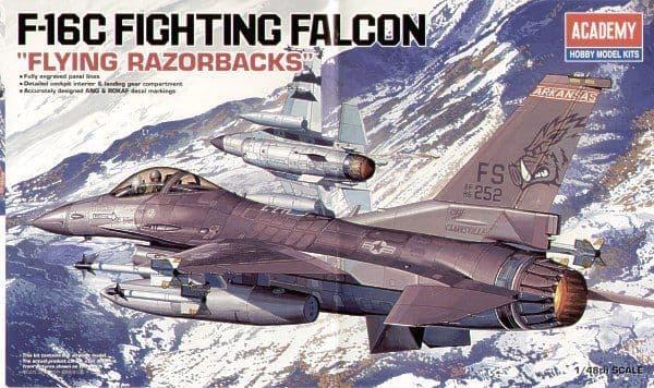 Academy 1/48 F-16C Fighting Falcon Flying Razorbacks # 12204