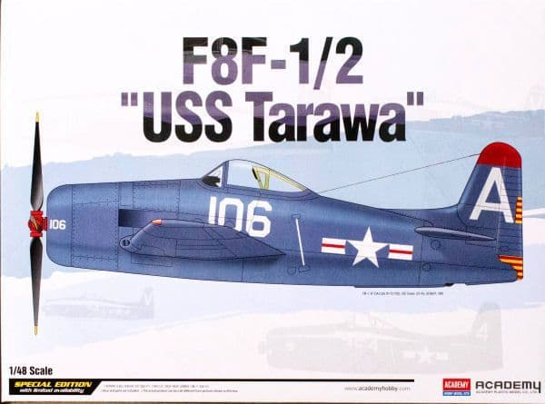 Academy 1/48 Grumman F8F-1/2 Bearcat USS Tarawa # 12313