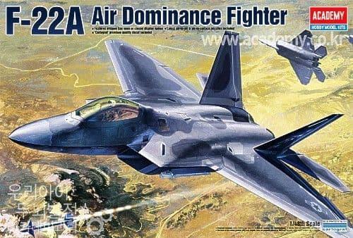Academy 1/48 Lockheed-Martin F-22A Raptor # 12212