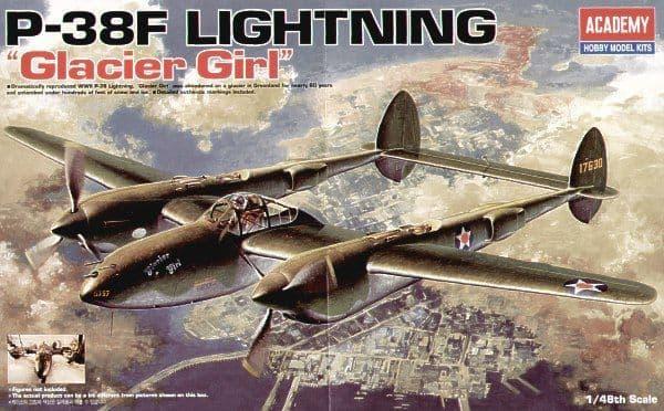 Academy 1/48 Lockheed P-38F Lightning 'Glacier Girl' # 12208