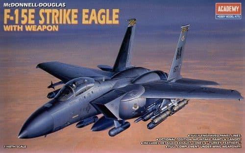 Academy 1/48 McDonnell-Douglas F-15E Strike Eagle with Bombs # 12264