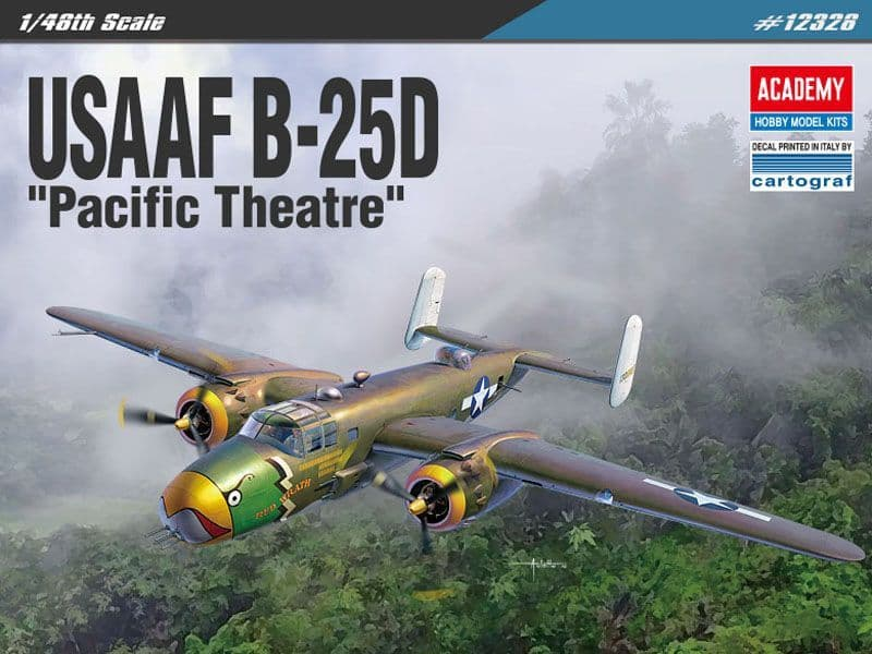 Academy 1/48 North American B-25D Pacific Theatre # 12328