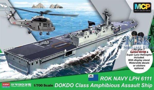 Academy 1/700 ROK Navy Dokdo (LPH 6111) Amphibious Assault Ship # 14216