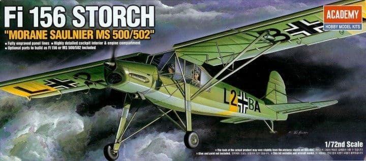 """Academy 1/72 Fi-156 Storch """"Morane Saulnier MS 500/502"""" # 12459"""
