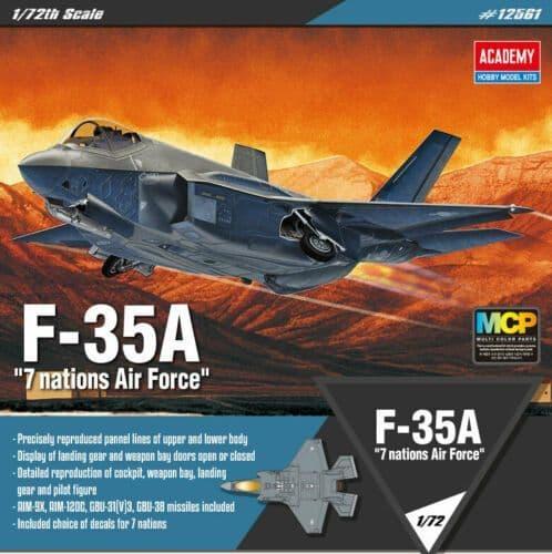 "Academy 1/72 Lockheed Martin F-35A ""7 Nations Air Force"" MCP # 12561"