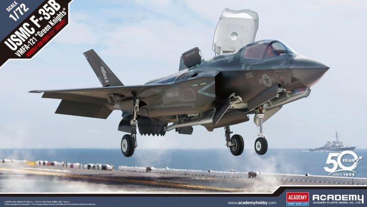 "Academy 1/72 Lockheed-Martin USMC F-35B VMFA-121 ""Green Knights"" # 12569"