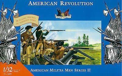 Accurate Figures 1/32 American Militia Men Series II American Revolution # 3209