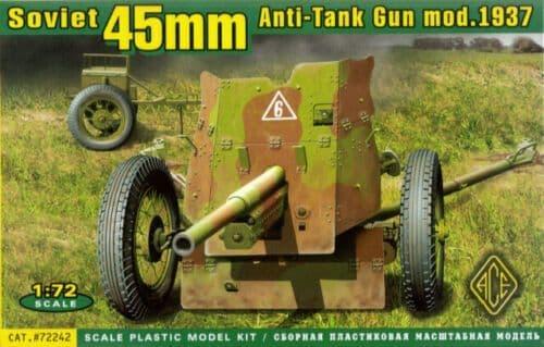Ace 1/72 45mm Soviet Anti-Tank Gun # 72242