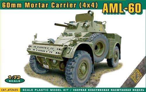 Ace 1/72 AML-60 60mm Mortar Carrier (4x4) # 72455