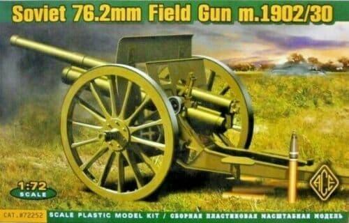 Ace 1/72 Soviet 76.2mm Field Gun model 1902/30 # 72252