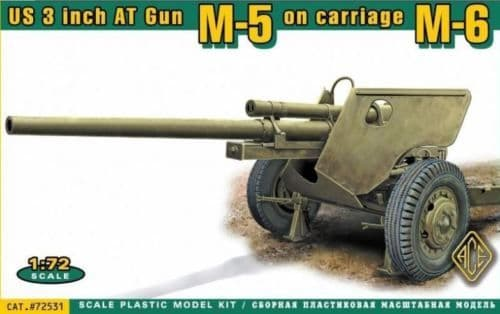 Ace 1/72 U.S. 3inch AT Gun M-5 on Carriage M-6 (Late) # 72531