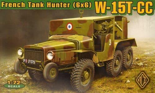 Ace 1/72 W-15T-CC French Tank Hunter (6x6) # 72537