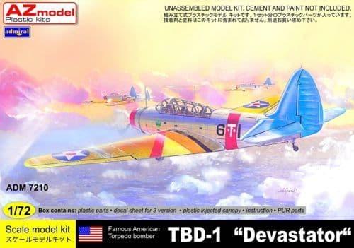 Admiral 1/72 Douglas TBD-1 'Devastator' # 7210
