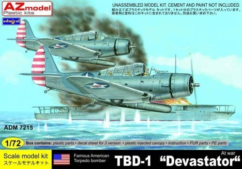 Admiral 1/72 Douglas TBD-1 Devastator At War # 7215
