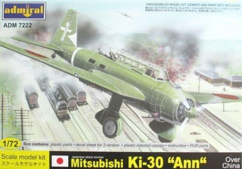 """Admiral 1/72 Mitsubishi Ki-30 """"Ann"""" Over China # 7222"""