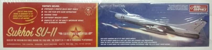 Aerographics - Sukhoi Su-11 Soviet Interceptor Balsa Kit # AE25
