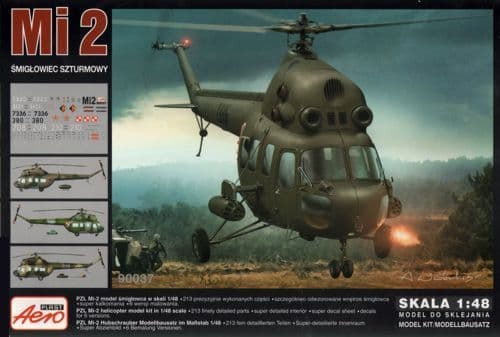 Aeroplast 1/48 Mil Mi-2 Attack Helicopter # 90037