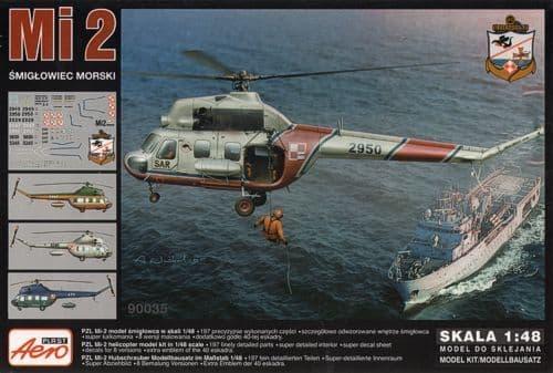 Aeroplast 1/48 Mil Mi-2 Navy Helicopter # 90035