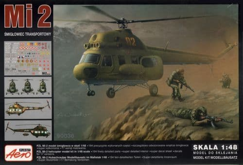 Aeroplast 1/48 Mil Mi-2 Transport Helicopter # 90036