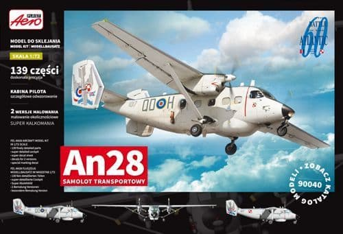 Aeroplast 1/72 Antonov An-28 Transport Aircraft # 90040