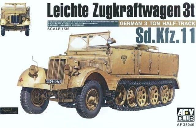 AFV Club 1/35 German Sd.Kfz. 11 3 Ton Half-track # 35040