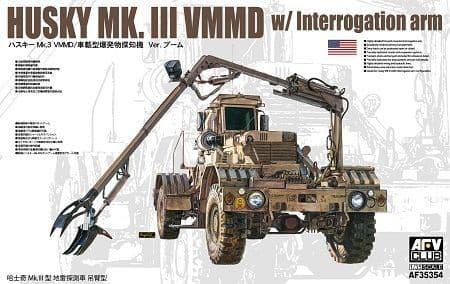 AFV Club 1/35 Husky Mk.III Vehicle Mounted Mine Detector with interrogation arm # 35354