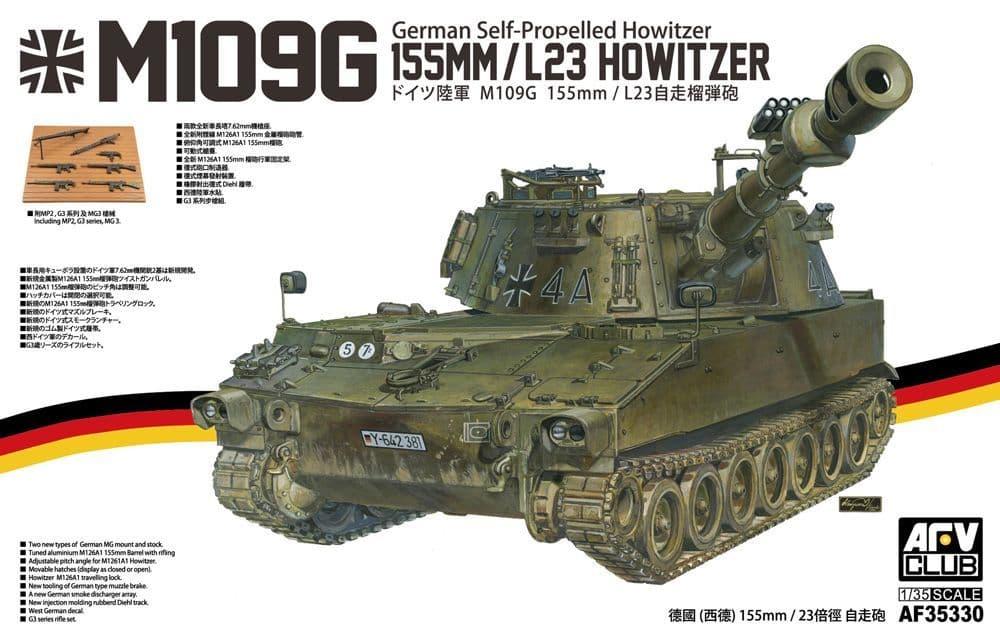 AFV Club 1/35 M109G 155mm/L23 German Self-propelled Howitzer # AF35330